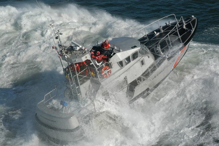 US Coast Guard Life Boat Surf Training
